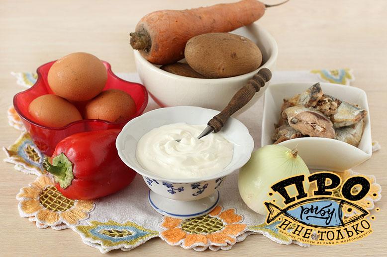 новогодний салат Мимоза