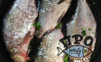 речная рыба с овощами в духовке