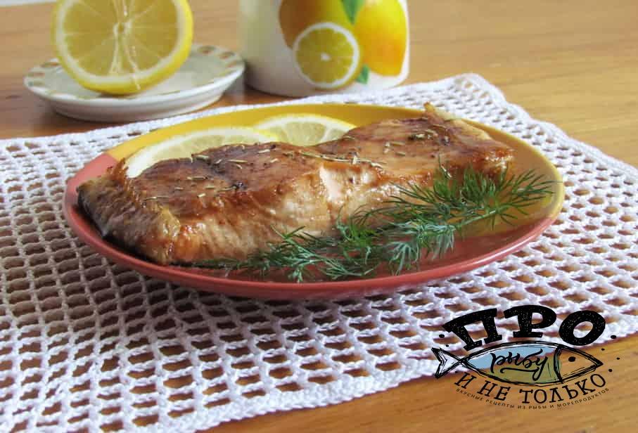 лосось в соевом соусе с медом