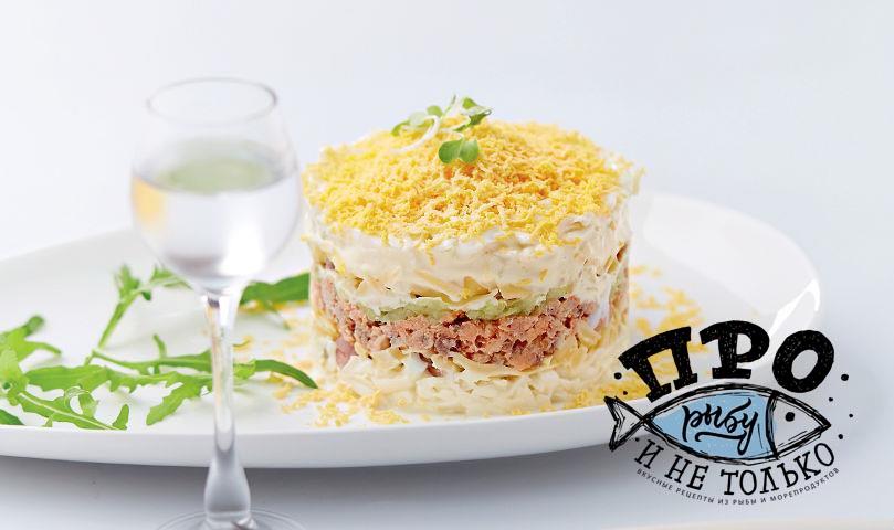 Приготовления салат мимоза