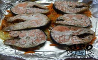 как запечь стейки лосося