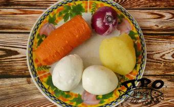 новогодний салат с красной рыбой