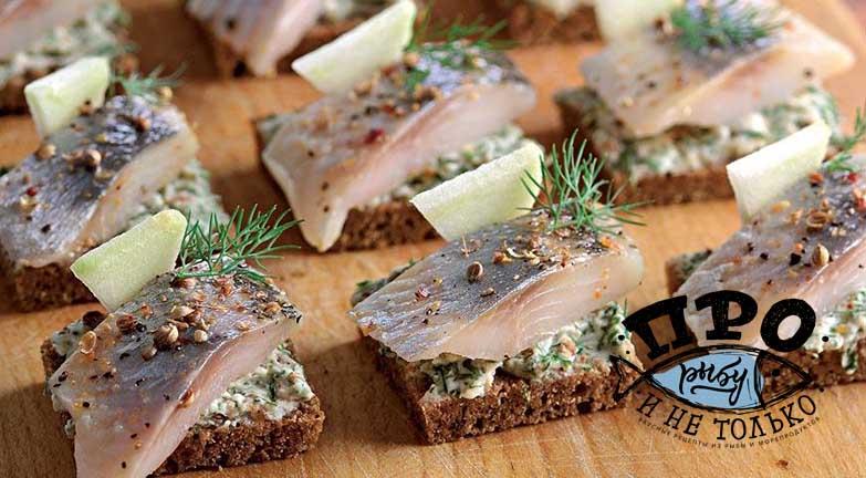 бутерброды с селедкой на праздничный стол рецепты