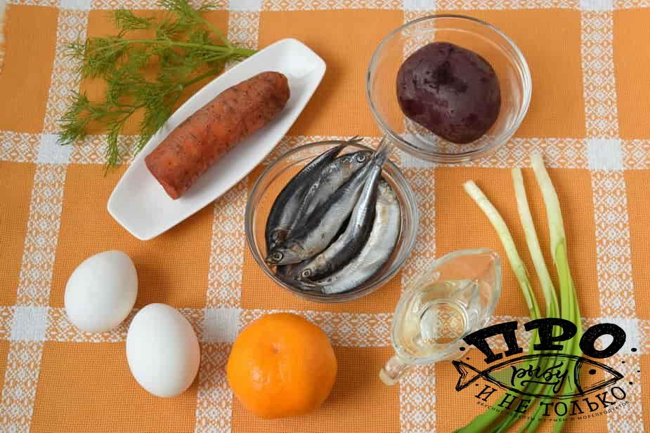 салат с хамсой
