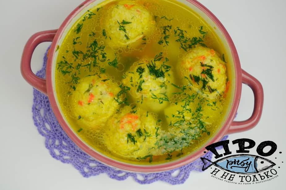 суп с рыбными фрикадельками из трески